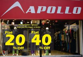 Apollo Sports Pre Summer/Winter Sales! Flat 40% & 20