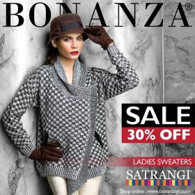 Winter sale , Flat 30% off on SATRANGI SWEATERS at Bonanza