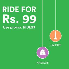 Ride For Rs 99 Use Promo Code (Only 14th September 2017) @ Careem