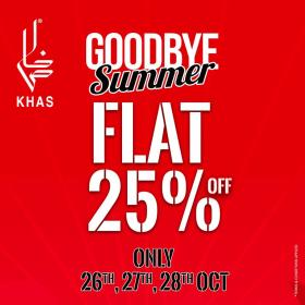 270f4b182bb Khas Stores Summer Goodbye SALE! Flat 25% OFF On entire range ...