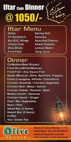 Olive Garden Islamabad Iftar Buffet Dinner Deal Menu Whatsonsale
