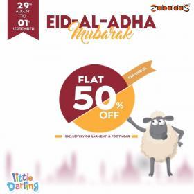 Zubaidas EID UL ADHA Celebrations! Flat 50% OFF on ALL GARMENTS