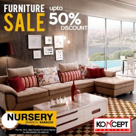 Koncept Furniture Sale Discounts! Avail Upto 50% Off On All Furniture Items  @ Zubaidas