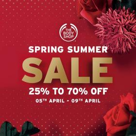 7cb630b9c91 The Body Shop Spring Summer Sale 20 to 70% OFF Till 9th April 2018 ...