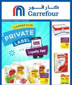 Carrefour Private Label Promotional Leaflet With Price List Valid
