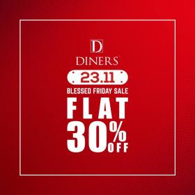 Diners Blessed Friday Flat 30 Off On Entire Stock In And Online
