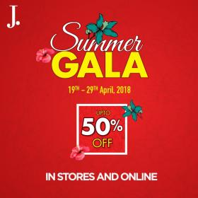 83ceb82bc98 J. Junaid Jamshed Summer Gala Sale! Upto 50% OFF From 19th till 29th April  2018