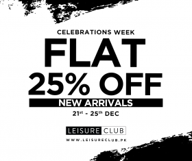 8a3d164f6cb get FLAT 25% off on all new arrivals at Leisure Club till 25th Dec '18