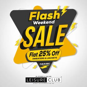 7ec534e14bf Leisure Club Flash Sale! Flat 25%off on Sweaters and Jackets from ...