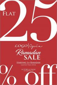 66308f0b9e3 Logo Shoes Sale! Flat 25% off sale on entire stock from 1st Ramadan ...