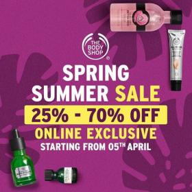 The Body Shop Summer Spring Sale! Online Exclusive Sale From
